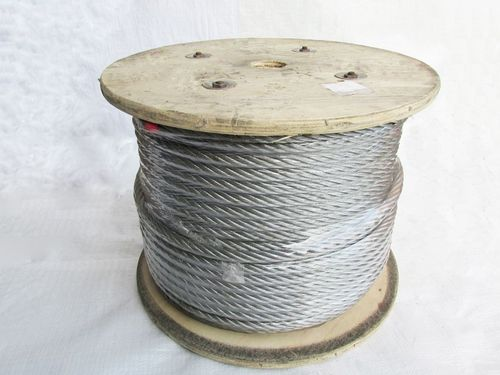 Galvanised Steel Wire Rope Cable 12MM 6x12 (100M Reel 6 x 12 Rigging Marine)